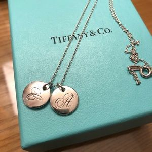 "Tiffany & Co Necklace with ""A"" and ""C"" Charms"